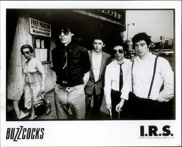Buzzcocks on their first tour of the USA in 1978 (John's the tall one).