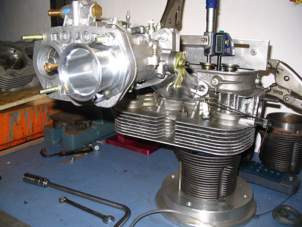 Flow testing the entire induction system on the JMR flowbench