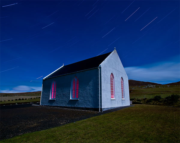 Heaven's Above: 32 minute exposure. Scarista, Isle of Harris
