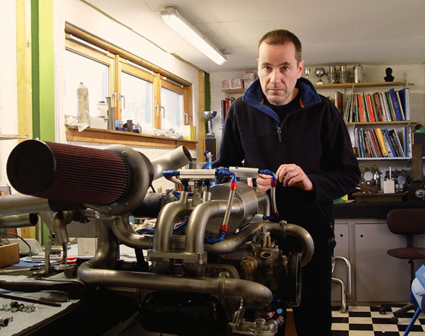 Assembling a turbocharged, fuel injected race engine