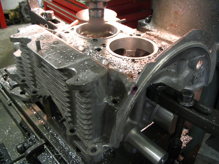 Boring the crankcase