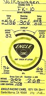 Engle FK10 cam card