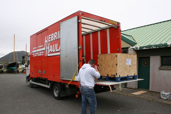 Done and dusted, crated and collected -  arriving at Terry's Beetle Services four days later.